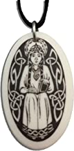 Patron Saints St Margaret of Scotland Porcelain Oval Medal on Braided Cord of Scotland and Widows