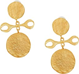 Kenneth Jay Lane - Satin Gold Drop Earrings