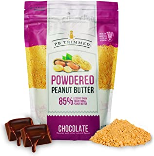 PB Trimmed CHOCOLATE All Natural & Kosher Premium Powdered Peanut Butter from Real Roasted Pressed Peanuts, Good Source of Protein - 1 LB Pouch. (Chocolate, 1 LB)