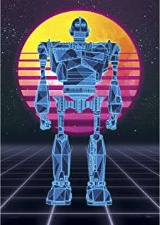 Ready Player One – Iron Giant – 1980s Style Neon Art – OASIS – Unique Nostalgic MightyPrint Wall Art – NOT MADE OF PAPER - Movie Collectible