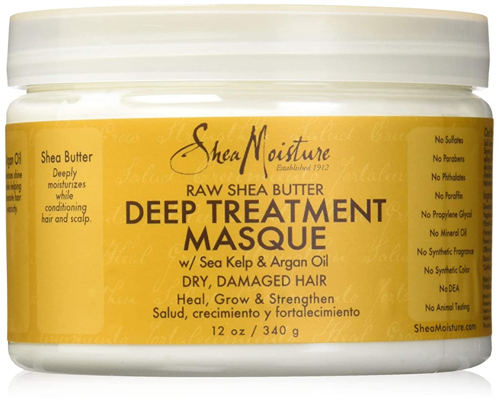 中世の海外で評論家Shea Moisture Raw Shea Butter Deep Treatment Masque 12oz