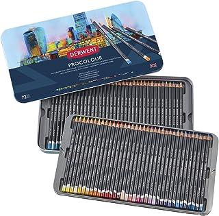 Derwent Colored Pencils, Procolour Pencils, Drawing, Art, Metal Tin, 72 Count (2302508)