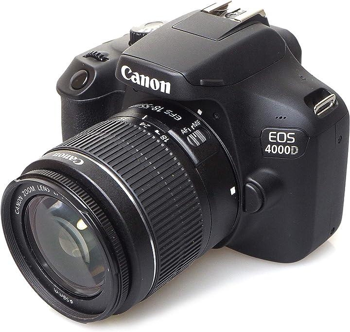 Fotocamera digitale canon eos 4000d 18-55 see nero 3011C018AA
