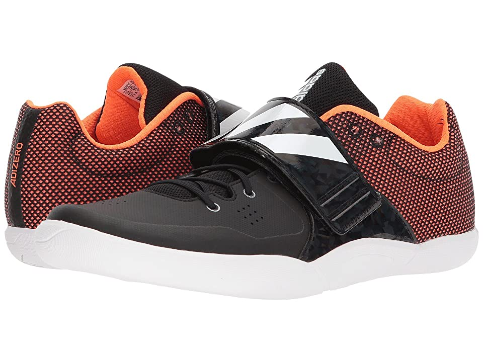 Image of adidas Running adiZero Discus/Hammer (Core Black/Footwear White/Orange) Running Shoes