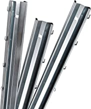 vidaXL 2X Zaunpfosten f/ür Maschendrahtzaun 170cm Grau Stahl Zaunpfahl Pfosten