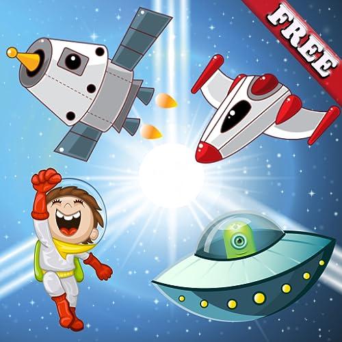 Puzzle spiele für Kleinkinder und Kinder : Entdecken Sie die Galaxie und das Raum schiff ! Pädagogische Puzzle Spiele - KOSTENLOS