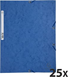 Exacompta 55502E Carton de 25 Chemises 3 rabats à
