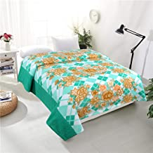 RD TREND Fleece Double Bed 90X90 Inch Blankets, Aqua