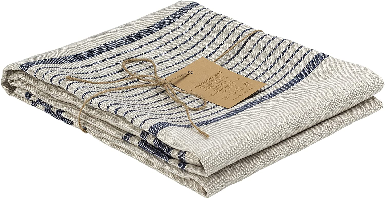 100 Percent Flax New life Linen Bath Towel Softened Natu x 27 55 Shipping included inches