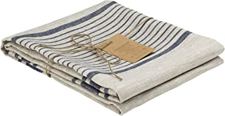 100 Percent Flax Linen Bath Towel 27 x 55 inches, Softened, Natural Grey Color