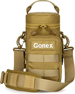 Gonex Military MOLLE Water Bottle Pouch, 1000D Polyester Tactical Travel Water Bottle Holder Bottom Mesh Lining Hydration Carrier for Outdoor Activities