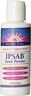 IPSAB Tooth Powder Peppermint - 4 Ounce Powder