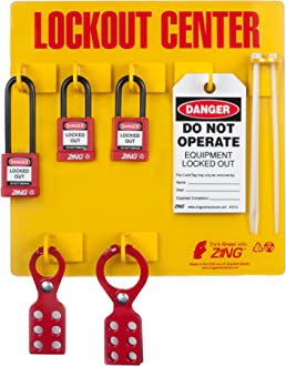 1 Steel with Tabs 1 Inside Jaw Diameter Red 1 Steel with Tabs 1 Inside Jaw Diameter Zing Green Products 7106 ZING RecycLockout Lockout Tagout Hasp