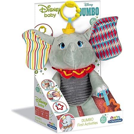 Clementoni - 17297 - Peluche Premières activités - Disney Dumbo - Jouet bébé, 6 Mois et Plus Multicolore
