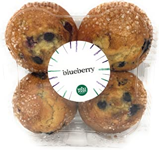 Whole Foods Market, Muffin Blueberry 4 Count, 16 Ounce