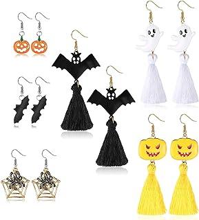 Design Unico//Multifunzionale//per Halloween Thrivinger Divertente Set di Orecchini con Collana A Pipistrello Halloween