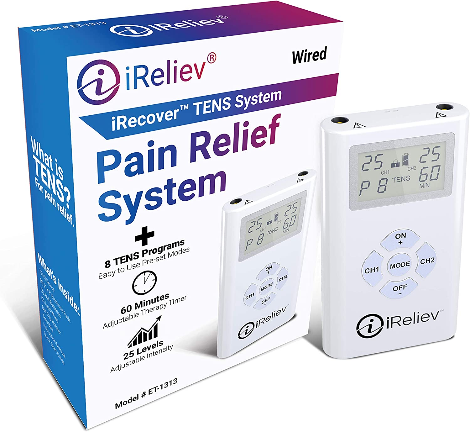 iReliev Pain 2021new shipping free Relief System Tens Massager Channel Dual Branded goods