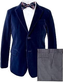 Spring Notion Big Boys' Velvet Blazer Set
