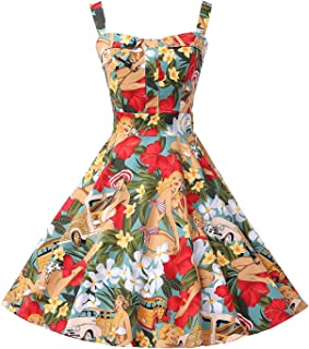 105cd92f5300 GRACE KARIN Women's Printed 1950's Vintage Retro Cocktail Party Dresses  CL6092