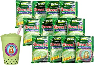 DEDE Instant Thai Green Tea with Cream and Sugar - 12 Pockets