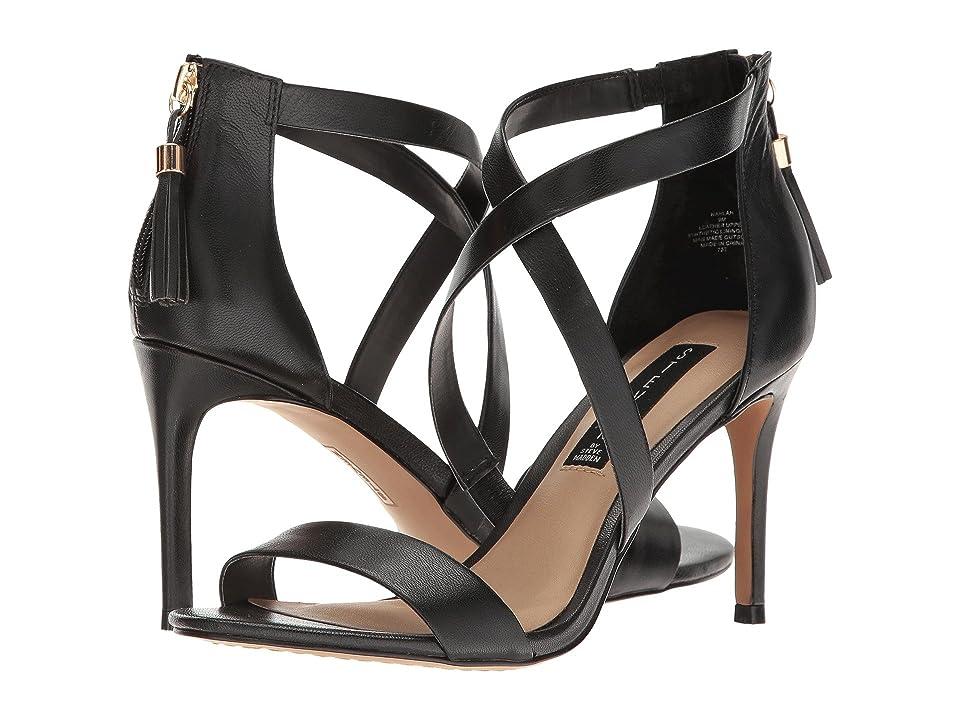 Steven Nahlah (Black Leather) High Heels