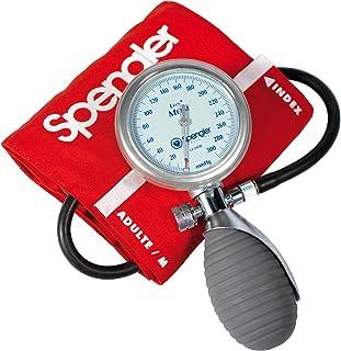 Spengler Lian - Tensiómetro manual con brazalete para adultos (velcro, algodón, talla M), color rojo