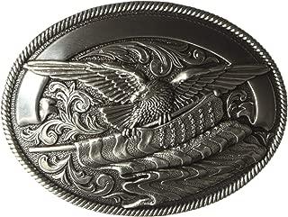 Nocona Men's Silver Eagle Flag Buckle