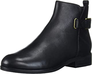 Cole Haan Women's Hollyn Bootie Ankle Boot, Black Tumbled Leather, 7.5 C US