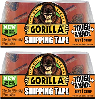 Gorilla Packing Tape Tough & Wide Refill, 2.83