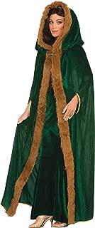 Forum Novelties Women's Medieval Fantasy Faux Fur Trimmed Cape