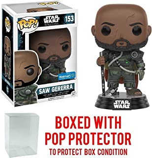 Funko Pop! Star Wars Rogue One Saw Gererra Walmart Exclusive #153 Vinyl Figure (Bundled with Pop BOX PROTECTOR CASE)