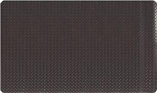 "AmazonBasics Anti-Fatigue Mat Diamond Deckplate Composite Mat 15/16"" Thick 3X5 Black"