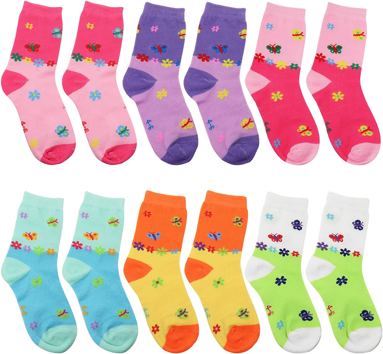 Indianapolis Mall Falari 12-Pack Girl Toddler Max 61% OFF Socks Kids Cotton Crew