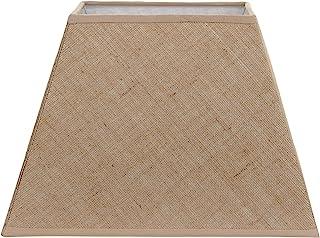 Better & Best Pantalla de lámpara de yute, cuadrada, alta, de 35 cm, lisa, color camel