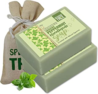 Speaking tree Peppermint Handmade Soap Enriched with Natural Glycerin - 100 gms (Pack of 2)