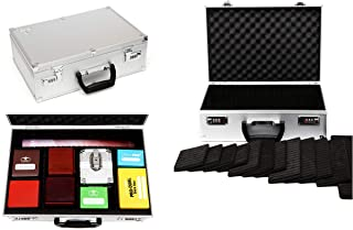 TC-A5 Silver Lockable Storage Case with Sliding Divider Walls for TCG, Deck Box, Card Games, MTG, Magic, Pokemon Cards, Yugioh, Keyforge, Cards Against Humanity, Dominion, Trading Cards, Board Games