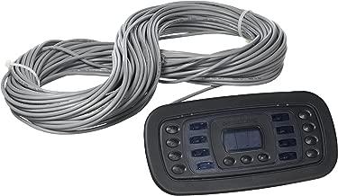 Hayward Goldline AQL-SS-D-B ProLogic Wired Digital Spa Side Remote Control, Black