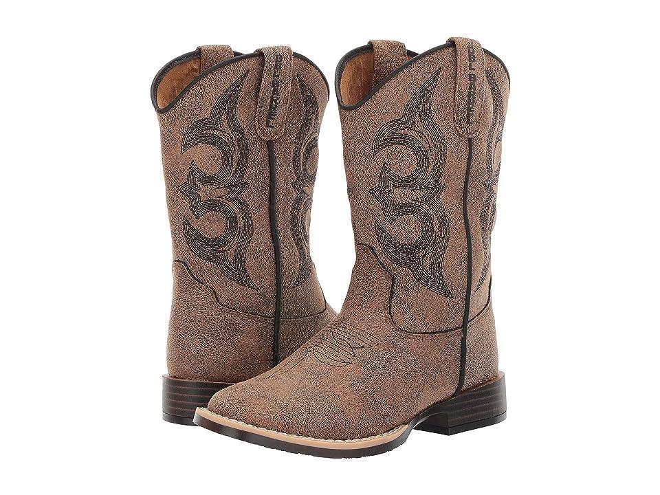 M&F Western Kids Mason (Toddler/Little Kid) (Tan/Black) Cowboy Boots