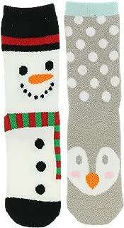 Women's Christmas Fuzzy Slipper Socks (2Pr)