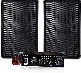 Pack Sonorisation 800W - AUDIOCLUB - USB Bluetooth PA DJ SONO MIX LED LIGHT SOIRÉE FAMILIALE BAR CLUB MAISON DANSE