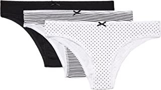 Women's Standard Cotton Brazilian with Bow, Pack of 3