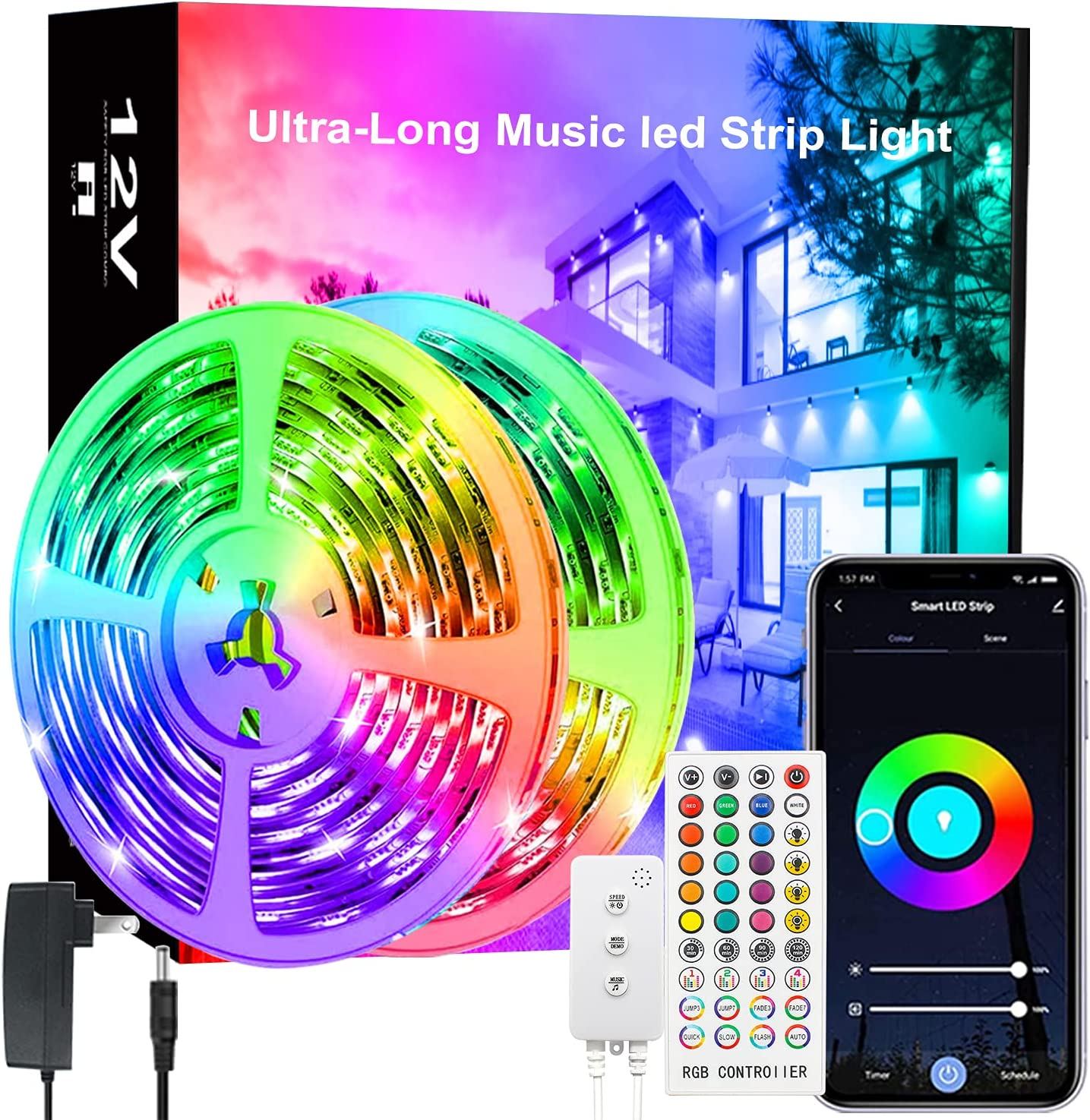 Selling Limited Special Price LED Strip Light 65.6ft Lights Music Bedroom Color Sync for