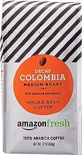 AmazonFresh Decaf Colombia Whole Bean Coffee, Medium Roast, 12 Ounce