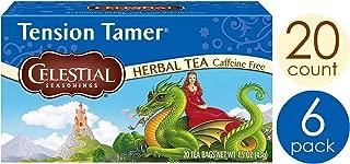 Celestial Seasonings Herbal Tea, Tension Tamer, 20 Count Box (Pack of 6)
