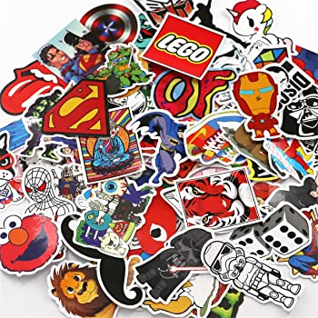 Graffiti stickers Car stickers Random Sticker for Skateboard Laptop Skateboard Luggage Suitcase 50-Pcs Blue HUJOO Sticker Pack