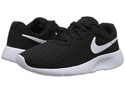 Nike Kids Tanjun (Little Kid) (Black/White/White) Boys Shoes