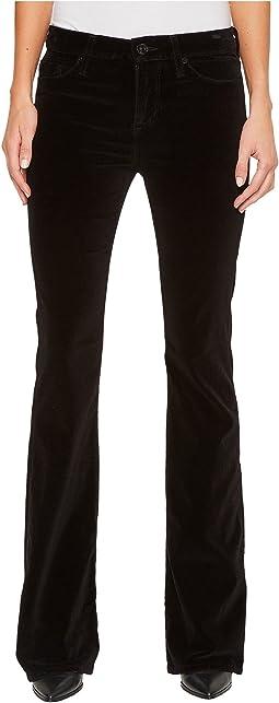 Hudson - Drew Mid-Rise Bootcut Velvet Jeans in Black Star