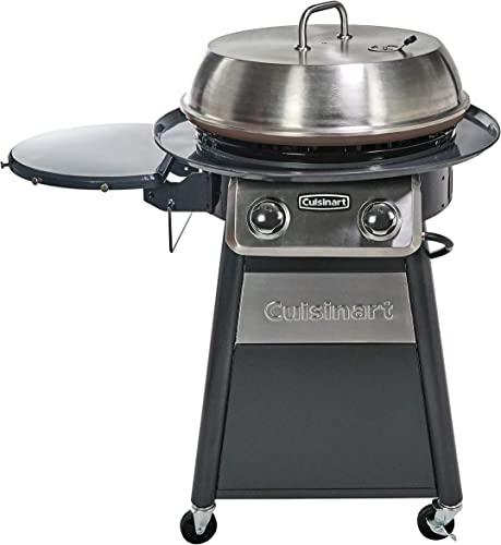 Cuisinart-CGG-888-Grill-Stainless-Steel-Lid-22-Inch-Round-Outdoor-Flat-Top-Gas