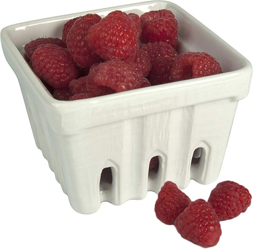 Artland White Ceramic Berry Fruit Basket Set Of 3