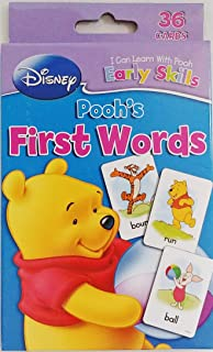 Winnie The Pooh First Words Flash Cards Game - Basic Skills (Learn School Homeschool Practice - Fun!)